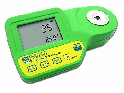 Milwaukee MA887 Digital Salinity Refractometer with Automatic Temp Comp