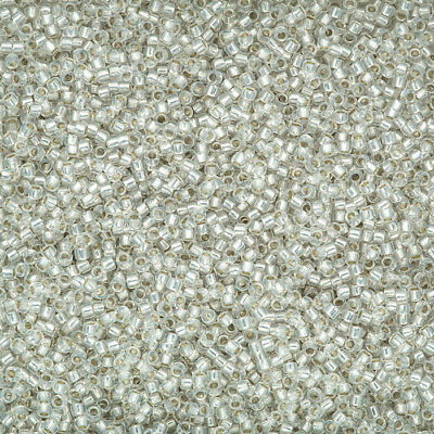 Toho Size 15/ Round Seed Beads TR-15-2100 Silver Lined Milky White 8.2g (L40/8)
