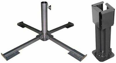 Metal Foldable Garden Parasol Large Stand Patio Umbrella Base Parasol Sun Shade
