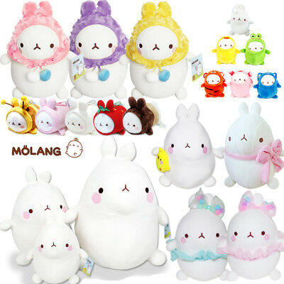 Molang Soft Stuffed Plush Doll Rabbit Keychain Keyring Pillow Cushion Gift New