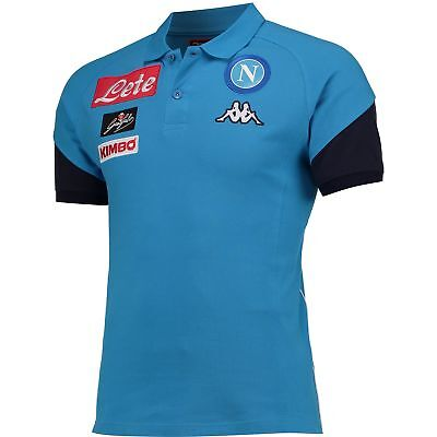 SSC Napoli Polo Shirt Blue Marine Mens Kappa