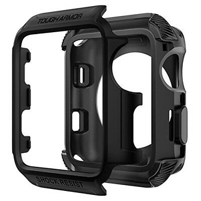 Rugged Armor Case Apple Watch Series 3 2 Nike + Sport Edition 42mm Matte Black