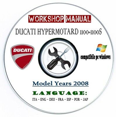 Manuale Officina Ducati Hypermotard 1100 S 2008 Workshop Manual Multilanguage