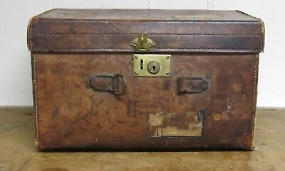 Antique Leather English Hatbox Distressed Leather