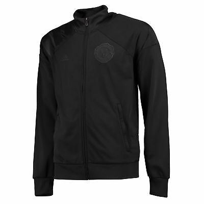 Manchester United Track Top Black Mens adidas