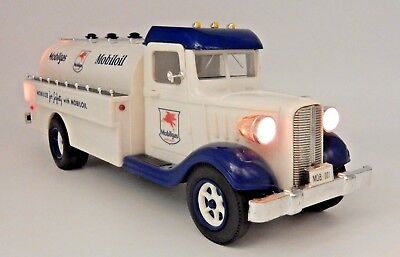 Vintage Marx Mobilgas Mobiloil Toy Coin Bank With Working Headlight & Taillights