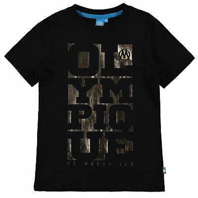 Olympique de Marseille Foil Graphic T Shirt Black Boys Kids