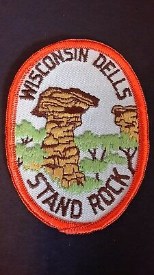Wisconsin Dells Stand Rock Souvineer Travel Patch  New