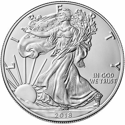Tube of 20 - 2018 $1 1oz Silver American Eagle 0.999 BU