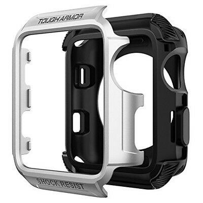 Rugged Armor Case For Apple Watch Series 3 2 42mm Nike+ Sport Edition Silver New