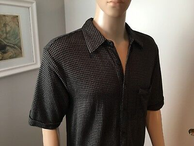 Mens KENNETH COLE New York L Large Silky Soft Poly Blend Casual Dress Shirt