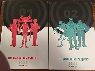 The Manhattan Project Deluxe Hardcover vol 1 & 2 by  Hickman