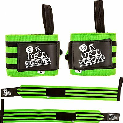 """Wrist Wraps Super Heavy Duty 1 Pair/2 Wraps 24"""" Support for Weight Lifting 