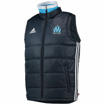 Olympique de Marseille Padded Vest Night Navy/White/Om Blue Mens adidas