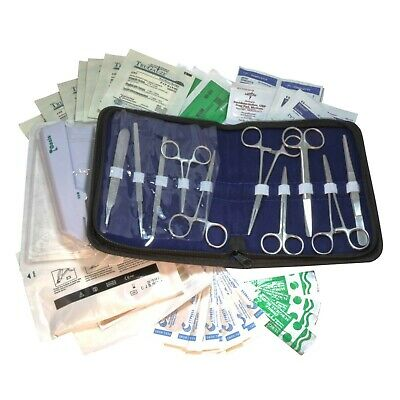 Survival Kit  First Aid Emergency Surgical Suture Practice Field Kit Each SS10