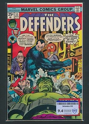 Marvel Comics Group The Defenders #33 1976 Cbcs Raw Grade 9.4