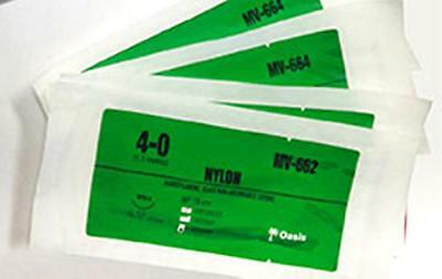 Practice Teaching Suture Kit, Nylon 4/0  Suture Thread with Needle Pack of 5