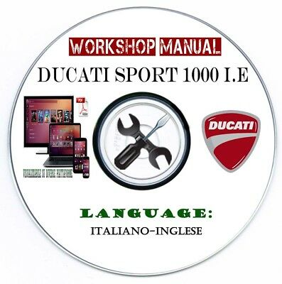 Manuale Officina Ducati Sport 1000 I.E My 2006 Workshop Manual Service Repair