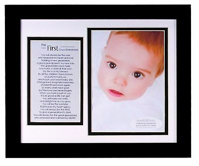 The Grandparent Gift Co. First Great-Grandchild Photo Frame NEW