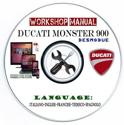 Manuale Officina Ducati Monster 900 Desmodue 1994-2005 Workshop Manual Service