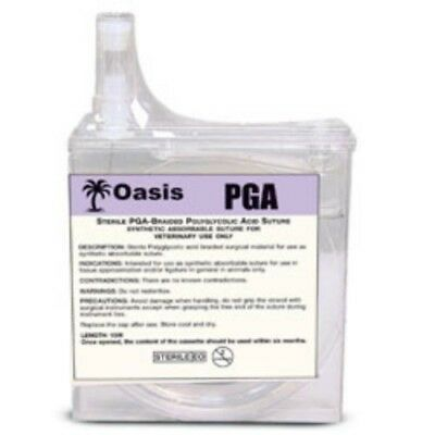 Oasis PGA Size 0 Suture Cassette, 15 Meters Synthetic Absorbable, Veterinary Use