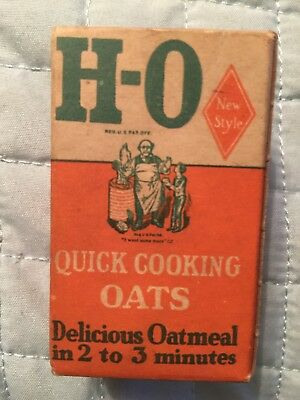 Vintage H-O Quick Cooking Oats Salesman Advertising Sample Box
