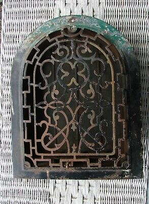 Antique Vintage Cast Iron Arch Dome Top Wall Grate Heat Register Vent 12 X 10