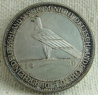 Germany - 1930A 3 Mark - Rhineland Liberation - Weimar - Old world coin!