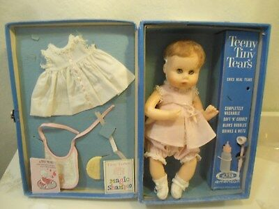 1960's Teeny Tiny Tears by American Character W/Case and Accessories