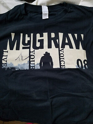 Autographed Tim McGraw Concert T-Shirt and Apron