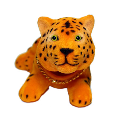 Spotted Tiger Cat Bobble Head Doll
