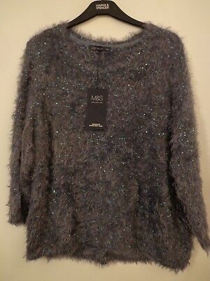 Bnwt Ladies M&s Collection Range 3/4  Length Sleeved Nightshade Jumper Size 18