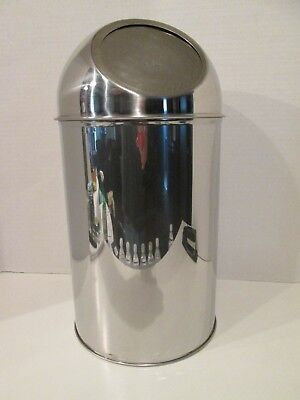 Small Stainless Steel Dome Top Waste Trash Bin Can Container for Bath or Office