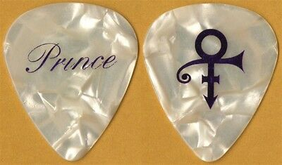 Prince authentic 2011 Welcome 2 America tour purple on pearl stage Guitar Pick