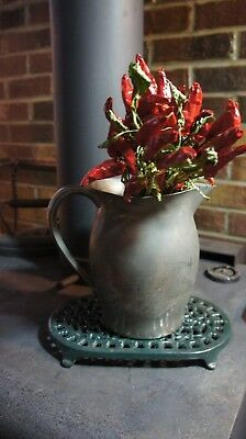 Antique Vintage Pewter Water Pitcher- Cornwall Pewter USA