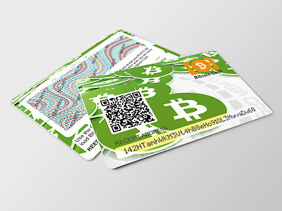Bitcoin Cash offline WALLET pvc card safe and secure cryptocurrency cold storage
