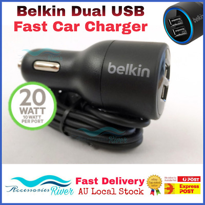 Belkin Dual USB Car Charger 4.2A For IPhone 6 7 Plus Samsung S7 S8 NOTE 8 HTC LG