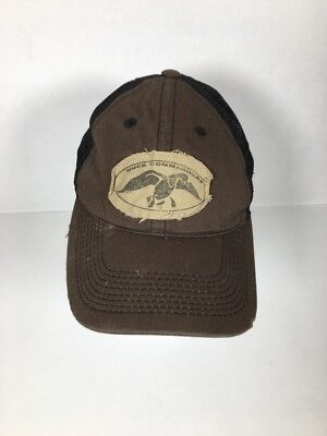 c4aeacc67976a DUCK COMMANDER Dynasty Mesh Baseball Hat Distressed Ball Cap Authentic Brown