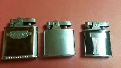 Lot of Three Vintage Ronson Lighters - Whirlwind, Standard, Princess