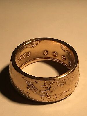 Gold Coin Ring made from a 1903 US $20 Liberty Gold Double Eagle!