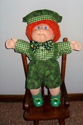 Hand painted St. Patrick's  My Child or Cabbage Patch  Shoes  Fits dolls 14 & up