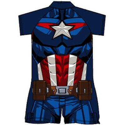Boys Captain America surf suit, all in one, swim suit, swimwear 18mths - 5yrs