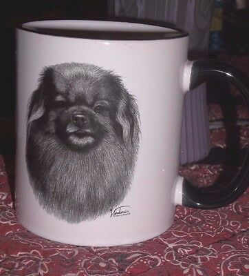 Tibetan Spaniel 10 Oz Coffee Mug - New -Black & White - Made In Usa