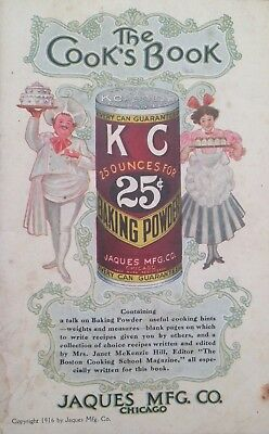 KC Baking Powder The COOK'S BOOK Vintage Baking Recipe Cookbook Stunning Color