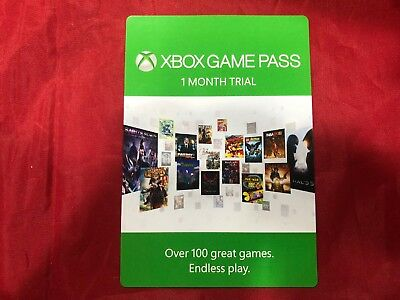 XBOX ONE GAME PASS - 1 Month Subscription Trial NEW