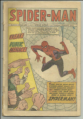 Amazing Spider-Man #1 2nd Appearance All Pages Coverless Marvel 1963