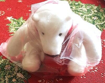 "New Coca Cola Coke 4.5"" Plush Stuffed Polar Bear Toy"