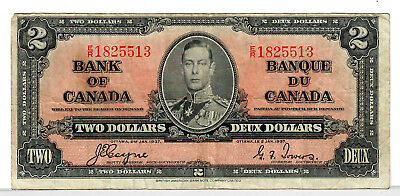 Canada Two Dollars 1937 p-59c  VG+