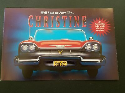 Advertising paper for Danbury Mint 1958 Plymouth Fury Stephen King's Christine
