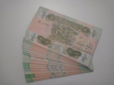 Saddam era 1/4 IRAQI DINAR  note. 100 consecutive notes in mint condition